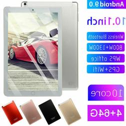 "10.1"" Bluetooth WIFI/4G-LTE HD IPS PC Tablet Android 9.0 64G"