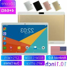 """10.1"""" HD Game Tablet Computer PC Android 8.0 Ten-Core GPS WI"""