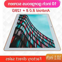 10.1 Inch 4G-LTE Tablet Android 8.0 Bluetooth PC 8+128GB Dua