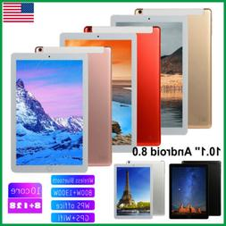 10.1 inch Android 8.0 8+128GB 4G-LTE Tablet PC IPS HD Screen
