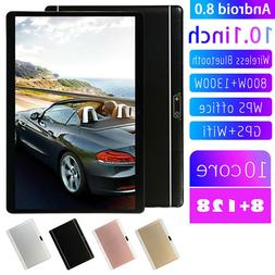 10.1 Inch Android 8.0 Tablet 4G-LTE IPS HD 8+128GB Dual SIM