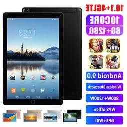 "10.1"" inch WIFI 4G-LTE HD Tablet Android 8.0 Pad 8+512GB SIM"