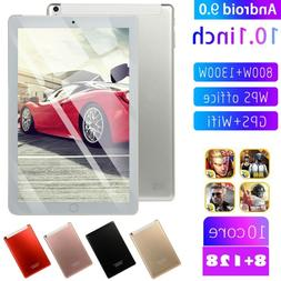 10.1'' WIFI/4G HD PC Tablet Android 9.0 Pad 8+128G 2 SIM GPS