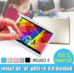 """10.1"""" WIFI/4G-LTE HD PC Tablet Android 9.0 bluetooth 6+128G"""