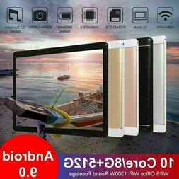 """10.1"""" WiFi Tablet Android 9.0 HD 8G+512G 10 Core PC Google G"""
