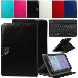 "10"" inch Universal Leather Tablet Case+Wireless Keyboard For"