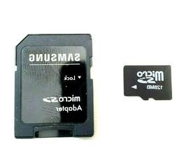 128MB Micro SD Class 10 Memory Card With Samsung Adapter Pho