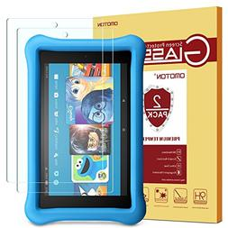 OMOTON Tempered Glass Screen Protector for All-New Fire HD