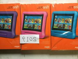 "New Amazon Fire 7 Kids Edition Tablet 7"" 16 GB Pink Blue Pur"