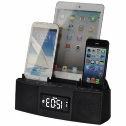 3 Port Smart Phone Charger with Speaker Phone , Alarm, Clock