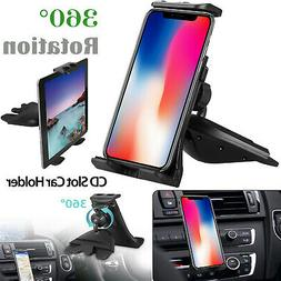 360° Universal CD Slot Car Mount Holder Stand for Cell Phon