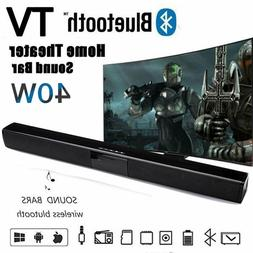 40W Home Theater Sound Bar Wireless Bluetooth TV Speaker FM