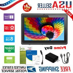 "7"" inch Tablet PC Android4.4 Quad Core 8GB ROM 512MB RAM Dua"