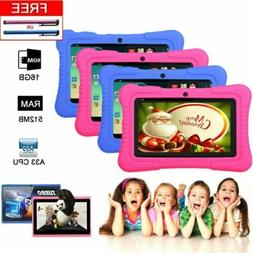 "Xmas Kids Gift  7"" Quad Core Tablet Google Android 16GB Gami"