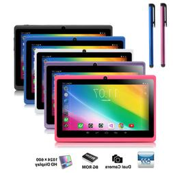 "7"" Tablet PC Quad Core Google Android 4.4 KitKat WIFI 16GB H"