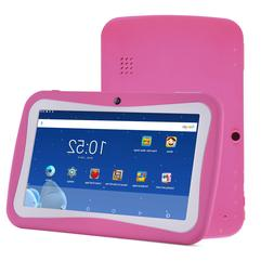 7Inch 8GB Kids Tablet PC Android4.4 Quad Core Dual Camera HD