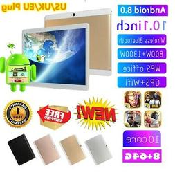 8GB+64GB 10.1 inch 4G Mobile Tablet PC Android 8.0 Ten Core