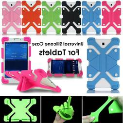 For 9.7-10.1inch Tablets Universal Rubber Kids Shockproof Si