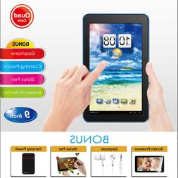 "🔥9"" Tablet PC Android Quad Core 8GB HD Dual Camera WiFi B"
