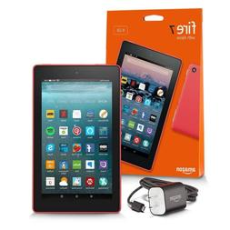 """Fire 7 Tablet with Alexa, 7"""" Display, 16 GB, Punch Red - wit"""