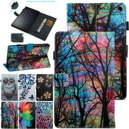 For Amazon Kindle Fire 7 HD8 HD10 2017 Tablets PU Leather Sm