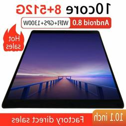 Android 8.0 WIFI/4G-LTE 8+512GB Tablet 10.1inch Pad 10 Core