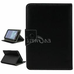 """Black For 7"""" 8"""" 10.1""""inch Tablets Universal Folding Leather"""