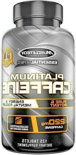 Caffein Pill Platinum 220Mg Caffeine Essential Series Pure &