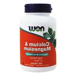 NOW Foods Calcium/magnesium 1000/500 mg, 100-Tablets