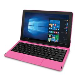 RCA Cambio Windows 10 Inch Pink 2-in-1 Notebook Tablet 1280