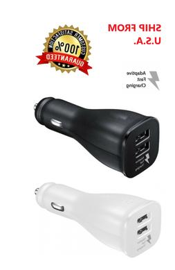 Car Charger Adapter Dual USB Port Quick Fast Charging for iP