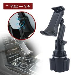 Car Mount Adjustable Cup Holder Stand For 4.7-12.9'' Phone T