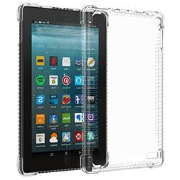 MoKo Case for All-New Amazon Fire 7 Tablet  - Clear Shockpro