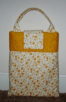CLEARANCE Tote Bag Gold Leaves Tablet Laptop Diaper Book Qui