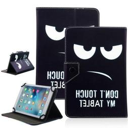 Don't Touch My Tablet 10 Universal Leather Box Case For Acre