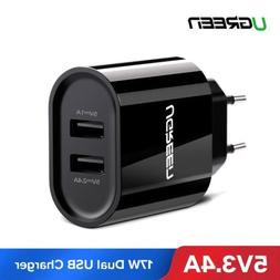 UGREEN Dual Port USB Wall Charger For Android iPhone Samsung