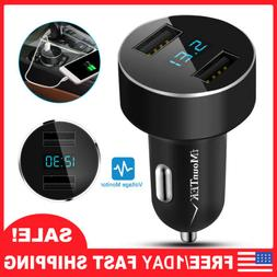 Fast Car Charger, Dual USB Port Quick Output for iPhone, Sam