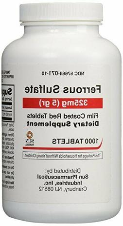 Ferrous Sulfate 325 mg Iron Generic for Feosol 1000 Red Tabl