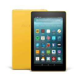 """Fire 7 Tablet with Alexa, 7"""" Display, 8 GB, Canary Yellow -"""