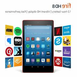 """Amazon Fire 8 Tablet with Alexa, 8"""" HD, 16GB or 32GB, 2017 -"""