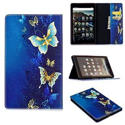 LaoTzi Folio Case for Amazon Fire HD 8 Tablet  - Cute Cartoo