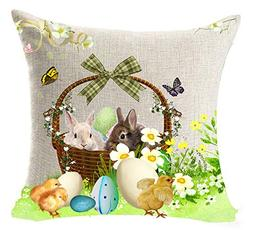 Happy Easter Greetings Gift Cute Bunny Rabbit Flower Color E