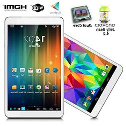 """indigi® 7"""" Android 4.2 JB Leather Back Dual Core Tablet P"""