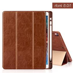 Shockproof Cover for iPad Pro 11 Inch Brown Case Fit iPad Pro 11 2018 Apple Pencil Charging not Supported Miya Lightweight Stand Case with Auto Sleep//Wake 360 Degree Rotating Stand Cover