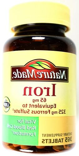 Nature Made Iron 65mg Supports Red Blood Cells Gluten-Free,