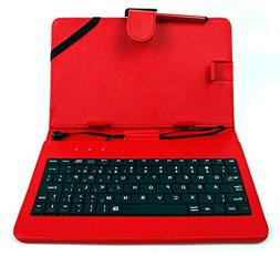 Exclusive DURAGADGET 7-inch Keyboard Folio Case in Red with