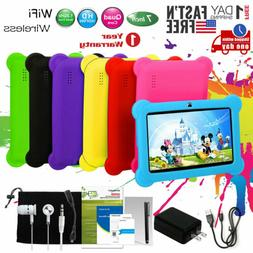 """Kids Tablet PC 7"""" Android 4.4 Case Bundle Dual Camera 1.3Ghz"""