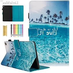 LittleMax, PU Leather Case Flip Stand Protective Auto Wake/S