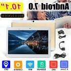 10.1'' 4G+64GB Android 7.0 Tablet PC Octa 8 Core HD WIFI Blu