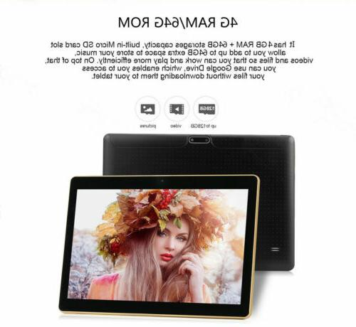 10.1'' 64GB Android Tablet PC Octa 10 WIFI US